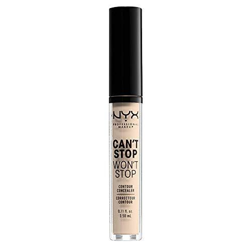 NYX Professional Makeup Correttore Can't Stop Won't Stop, Correttore Viso Liquido, Adatto a Tutti gli Incarnati, Fair, Confezione da 1