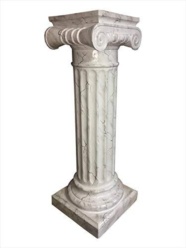 Antikes Wohndesign Griechische Blumensäule Blumenständer Marmorsäule Säule Standsäule Marmor Weiß