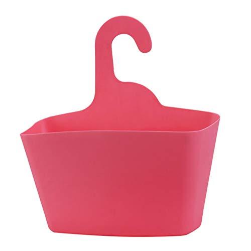 Faderr Cesta de ducha colgante, cesta para colgar de artículos de baño, organizador de baño, cesta apilable para montaje en pared, soporte para cocina, baño, plantas pequeñas (rosa)