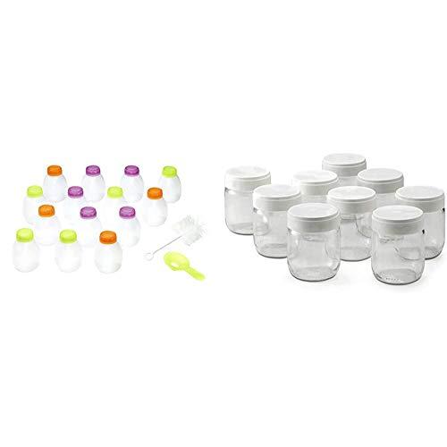 Lagrange 430201 Kit de 14 bouteilles yaourt à boire Utilisation en yaourtière & lagrange 430301 Lot de 9 pots yaourt, 0.185 liters