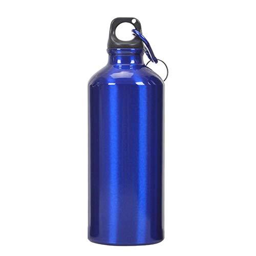 Demiawaking Borraccia Sportiva in Alluminio Bottiglia Termica per Acqua per Ciclismo Sport all'Aria Aperta (500ML, Blu)