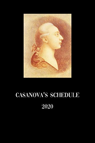 Casanova's schedule 2020: Tracking your sexual adventures in a weekly planner
