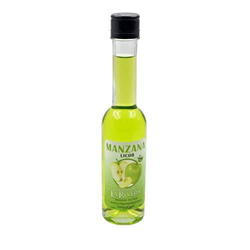 Lote de 8 Botellas de Cristal Decorativas de Licor SIN ALCOHOL'Manzana'. Regalos Originales. Licores y Complementos. Detalles para Bodas, Comuniones, Bautizos y Cumpleaños. CC
