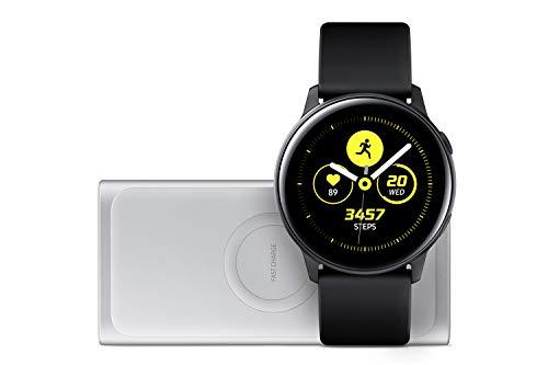 Samsung Galaxy Watch Active, Schwarz + Induktive Powerbank, Silber