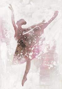 Rosa Ballerina Mädchen Leinwand Malerei nordische Wandkunst Poster Bild Dekoration Kinder Schlafzimmer Wohnzimmer nach Hause rahmenlose Dekoration Poster Leinwand Malerei A77 70x100cm