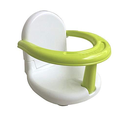 Verloco Opvouwbare badkuipstoel voor baby's, douchestoel voor zittende baby, met rugleuning, voor badgordel, veiligheidszitje tegen vallen voor baby's - groen