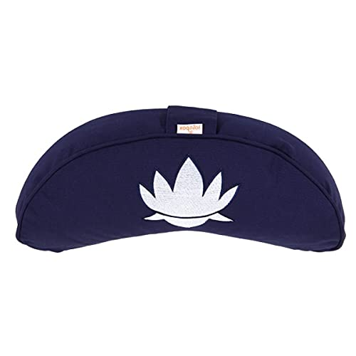 yogabox Luna Cuscino Lotus, Blu Scuro
