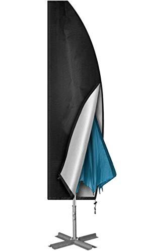 JOLVVN Sonnenschirm Schutzhülle, 420D Oxford Gewebe Wetterfeste Ampelschirm Abdeckung Große UV-Anti, 265 * 70 cm