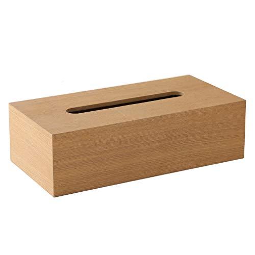 【ティッシュケース・ホルダー】 木製 ティッシュボックス おしゃれな ティッシュケース ティッシュ カバー ケース 可能 ベージュ・ダークブラウン 約26×13×7.5cm (ベージュ)