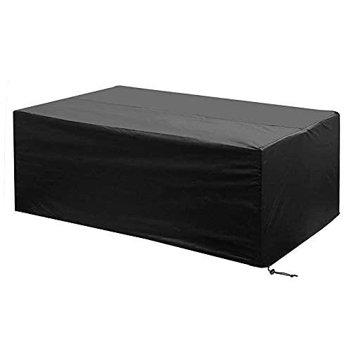 EMSMIL Funda para Muebles de Jardín Exterior 200x160x70cm Impermeable Resistente al Polvo Protectora Muebles Jardin Rectangular Fundas Mesa Terraza Conjuntos Mesas Cubierta Silla Sofás Oxford Negro