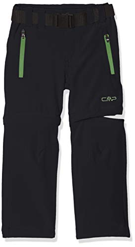 CMP Jungen Zip Off Dry Function Trousers Hose, Anthracite-Green Grass, 92
