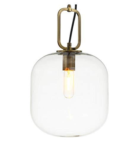 KOSILUM - Grande suspension verre et laiton D35 cm- Mimosa - Lumière Blanc Chaud Eclairage Salon Chambre Cuisine Couloir - 1 x 40 W - - E27 - IP20