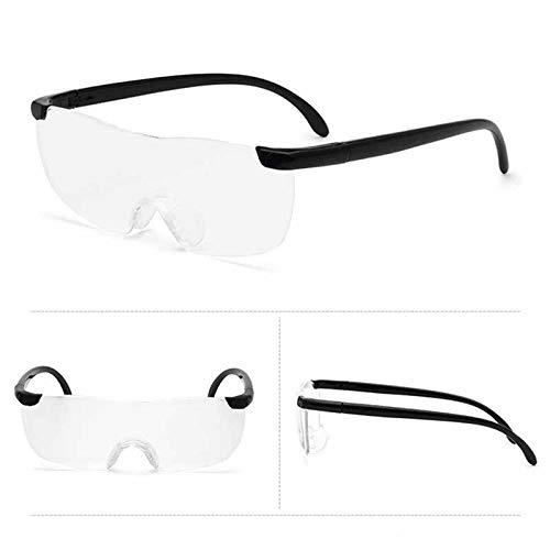 リタプロショップ? メガネ型ルーペ 1.6倍 拡大鏡 軽量 眼鏡 めがね ブラック ルーペ フリーサイズ
