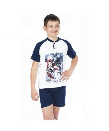 10XDIEZ Pijama niño Manga Corta 203029 - Talla niño - 16 años