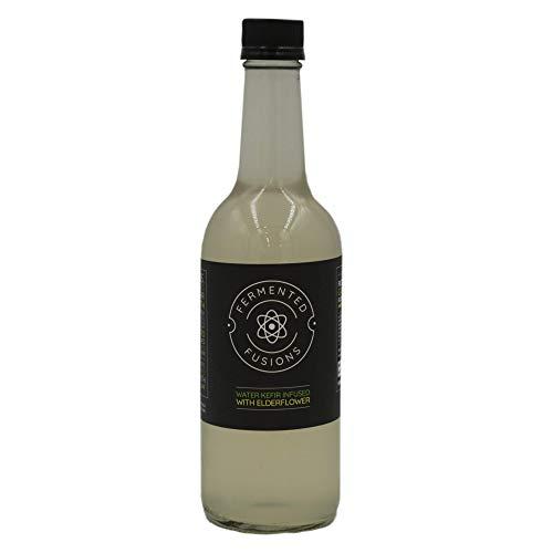 Fermented Fusions – Organic & Vegan Certified Water Kefir Drink Infused with Elderflower, 6 x 500ml