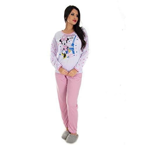 Pijama Manga Longa Feminino em Malha Suave PV | 159 cor:rosa;tamanho:M