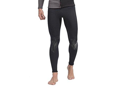 gresonic Herren Neoprenhose 3MM Lange Hose Damen Neoprenanzug Tauchanzug Surfanzug für Tauchen Schnorcheln Schwimmen Schwarz 3XL