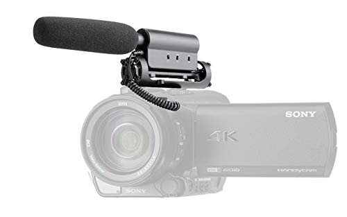 Stereo Microphone with Windscreen (Shotgun) for Sony FDR-AX33, FDR-AX43 & FDR-AX53