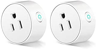Smart Plug Wifi Wireless Home Electrical Timing Outlet Remote Control your Devices from Anywhere Compatible with Alexa and Google Assistant IFTTT (2 packs)