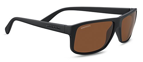 Serengeti Erwachsene Claudio Sonnenbrille, Satin Black, Medium/Large