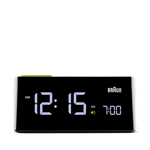 Braun – Despertador digital vertical con LCD BNC016BK, color negro