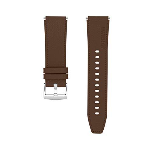 ZLRFCOK Correa de cuero de estilo oficial para Huawei Watch GT 2 Pro Band para mujeres y hombres, correa de reloj inteligente (color de la correa: marrón, ancho de la correa: para Huawei Watch GT)