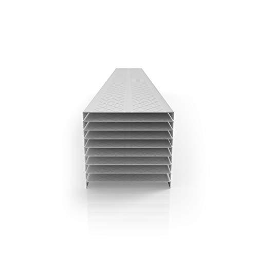 DECK-TOP Premium PVC Deck & Dock Plank Covering (9 Plank Bundle, Driftwood Grey)
