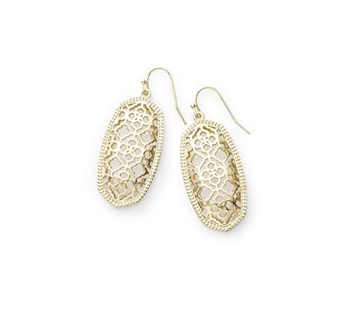 Kendra Scott Elle Drop Earrings for Women, Fashion Jewelry, Filigree, 14k Gold-Plated