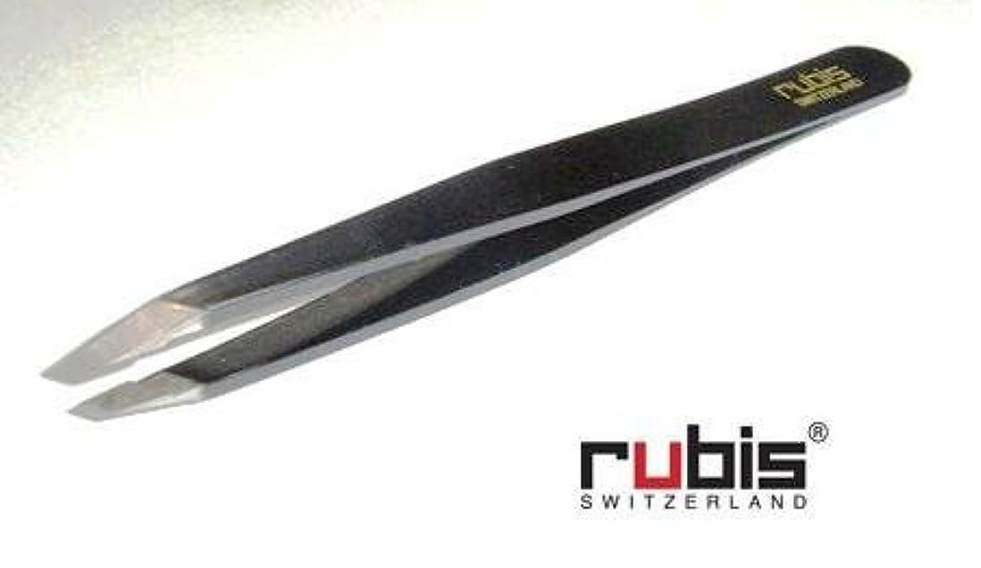 割り当てるスペード解釈的ルビス(スイス) ツイザー95mm(ブラック)先斜