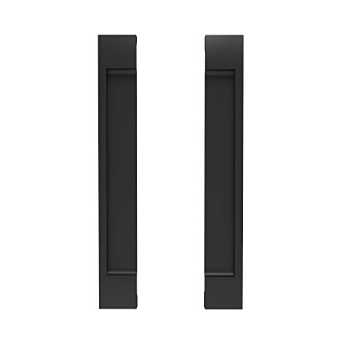 Sliding Door Handle for Kitchen Cabinet, Barn Door Self-Stick Door Handle, Pocket Door Handle for Sliding Closet Door, Pack of 2 Flat Handle Self-Adhesive No Screws Needed Door Handle - Black Color