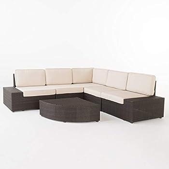 Christopher Knight Home Santa Cruz Outdoor Wicker Sectional Sofa Set