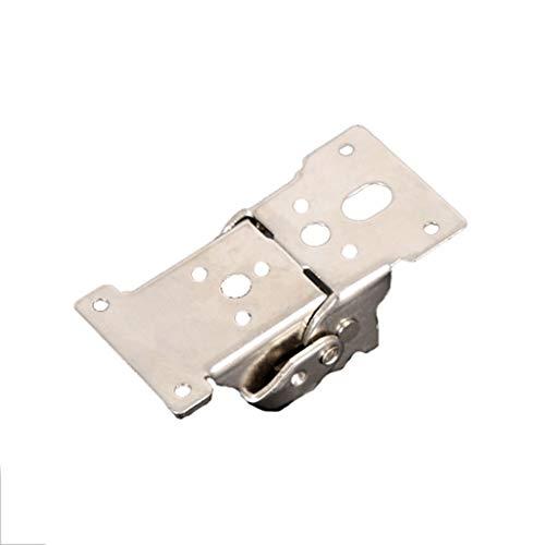 LEZDPP 90 Grados 180 Grados Bisagra Plegable Autoblocante Bisagra Patas de la Mesa Pie Muebles Accesorios de Conector Hebilla (Color : Silver, Size : 6pcs)