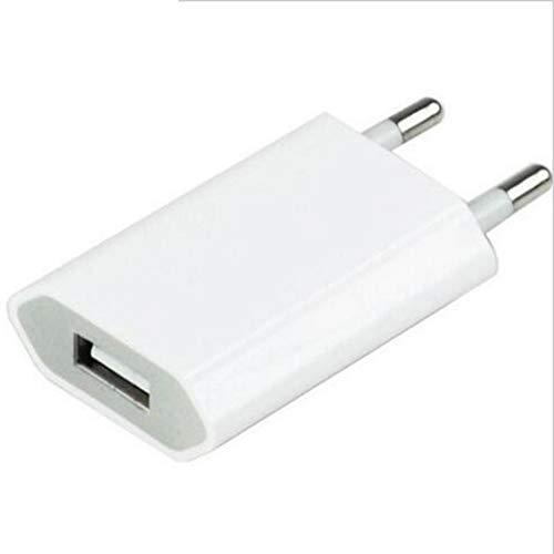 Shot Case Adaptador USB Enchufe de Pared para Xiaomi Redmi Note 7 Sector 1 Puerto Corriente AC Cargador Blanco (5 V-1 A) Universal (Blanco)