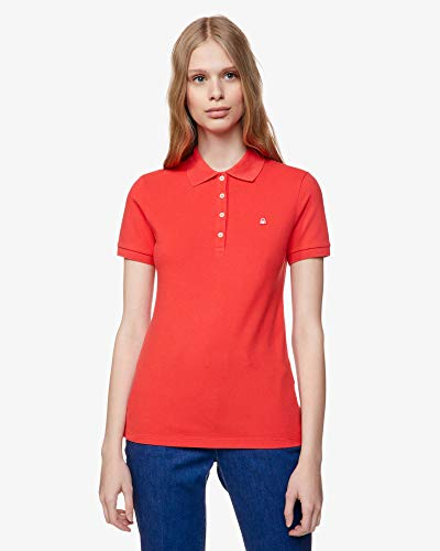 United Colors of Benetton Damen Polo Poloshirt, Rot (Poinsettia 30a), X-Small