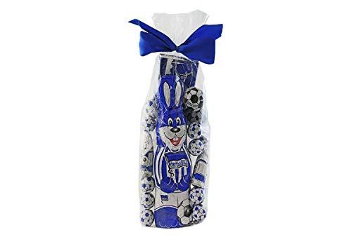 Großes Ostern-Schoko-Fanpaket - Mischbeutel mit Schoko-Osterhasen, Schoko-Bällen und Schoko-Tafel aus Fairtrade-Kakao (400 g) (Hertha BSC)