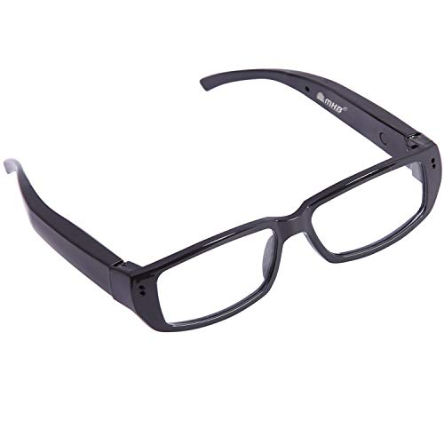 M MHB Spy Camera Reading Glasses with Video Recording, HD Hidden Camera, Super Small Surveillance Spectacles Glasses, 32GB Memory Card supportable.