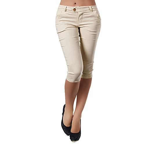 WAEKQIANG SeñOras SeñOras Pantalones LáPiz Botones De Bolsillo Pantalones De Pierna Ajustados Pantalones EláSticos Ocasionales 3/4 Medias De Mujer
