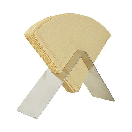 Kaffeefilterhalter Kaffeefilter Halterung Holder Dispenser Papier Filterpapierhalter - Erneuerbare Bambus Fächerförmige Kaffee Filtertütenhalter Für Filtertüten, Kann 100er Kegelfilterpapiere