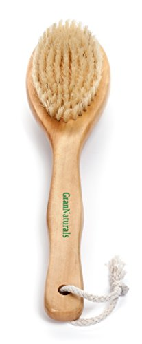 Dry Brushing Body Exfoliating Brush - Natural Bristle Anti Cellulite Massager Treatment Body Scrub...
