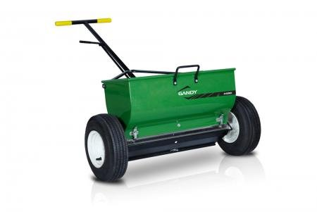 GANDY 24' Variable Rate Drop Spreader with Push-Handle and 13'...