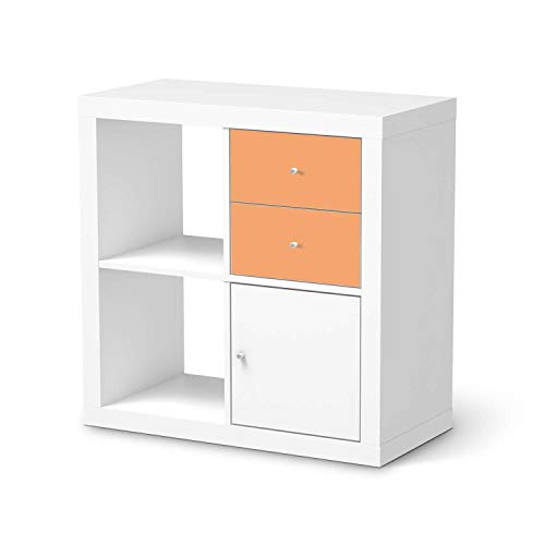 creatisto Wandtattoo Möbel passend für IKEA Kallax Regal Schubladen I Möbelaufkleber - Möbel-Tattoo Sticker Aufkleber I Wohnen und Dekorieren für Wohnzimmer und Schlafzimmer - Design: Orange Light