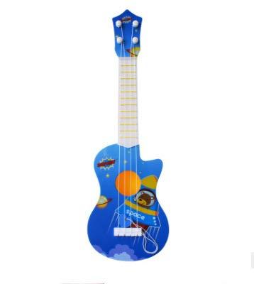 ギター 子供用 おもちゃ ウクレレ こども用 4弦 初心者 楽器玩具 知育玩具 かわいい ミニギター 18カラー (南極熊)