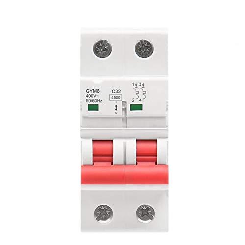 LUOXUEFEI Disyuntor Diferencial Interruptor Disyuntores Bipolares 4.5Ka 63A Tipo Ca