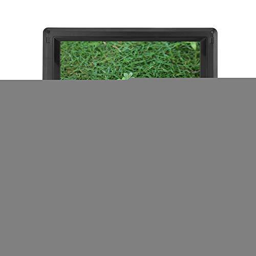 Wendry Draagbare DVD-speler met 9,8 inch groot draaischijf, dvd-speler-tv-speler, FM-radio-ontvanger, geschikt voor thuis, kantoor, voertuig en andere gelegenheden, EU.