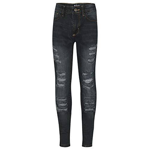 A2Z 4 Kids A2Z 4 Kids Kinder Mädchen Dünn Jeans Designer Denim - Girls Jeans JN28 Black 7-8