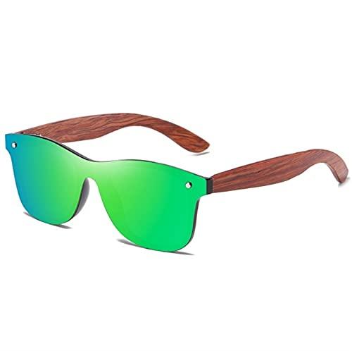 ZHSGV Espejo de una pieza, gafas de bambú y madera, gafas de sol de madera polarizada de alta gama, caja de embalaje exquisita (color: C, tamaño: Cm)