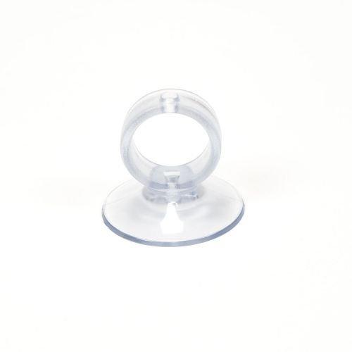 Saugnapf klar 30 mm Durchmesser mit Öse, Finger Saugnapf, Loch Sauger, Ösen Sauger, Saugstarker Halter