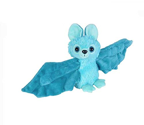 Wild Republic Huggers Blue Bat Plush, Slap Bracelet, Stuffed Animal, Kids Toys, 8 inches