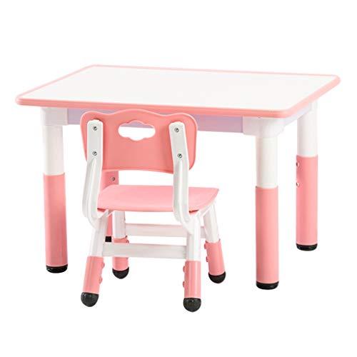 Table d'étude pour enfants Bureaux et chaises pour Enfants Table de Jeu relevable Petite Table d'apprentissage Protection très Saine et sûre (Color : Pink)