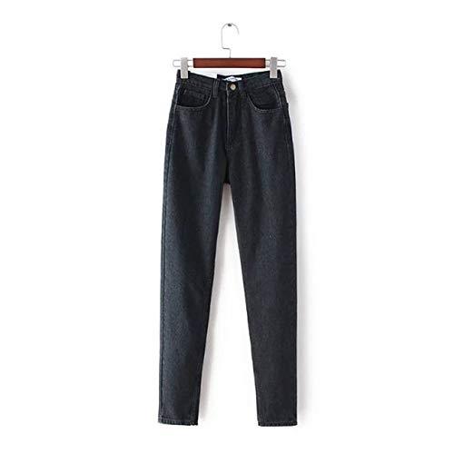 KXDNZK ZKKXDN Fashion Vintage Designer High Waisted Jeans Vrouwen Zwart Blauw Losse Boyfriend Jeans voor vrouwen Casual denim potlood broek